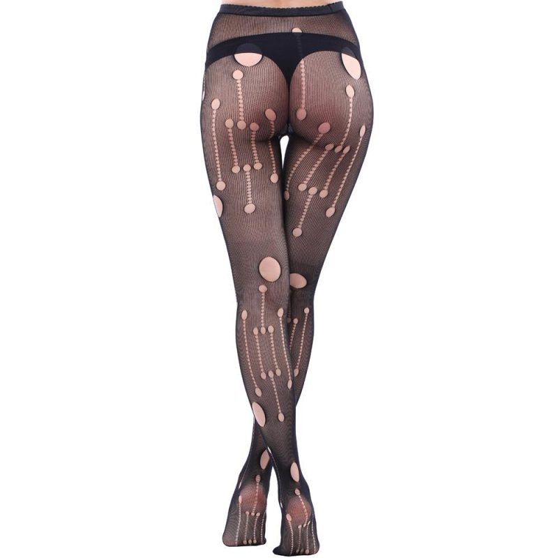 Black Hole Tights with Cut-Out Detailing