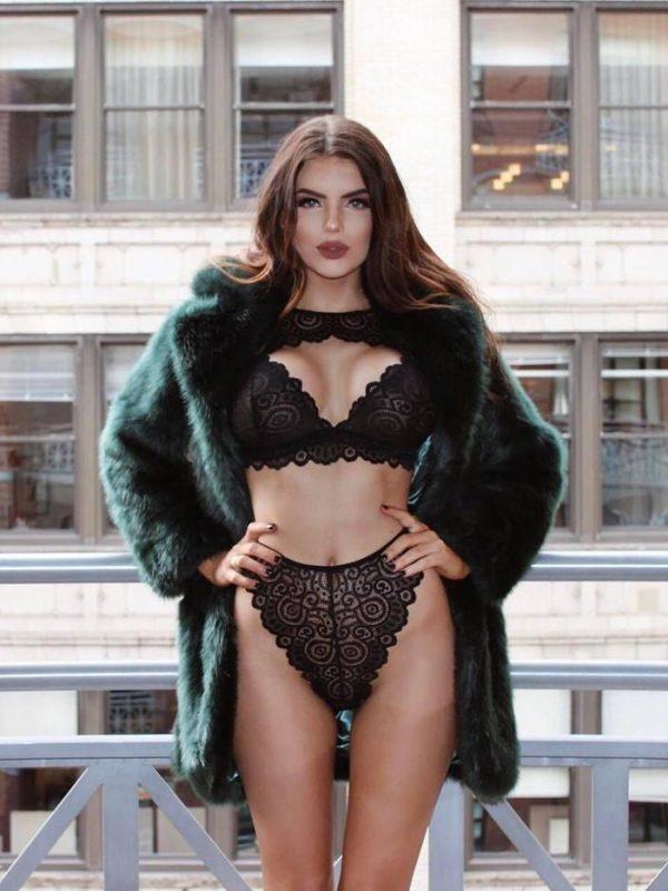 Erotic Lace Collar Push-up Bra Lingerie Set